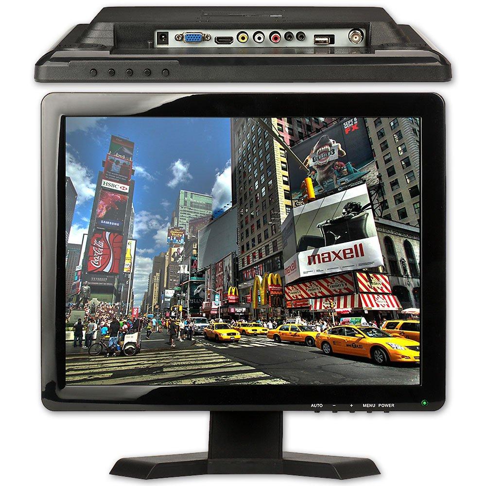 CCTV Monitor, BNC, ZOTER 15'' inch HDMI VGA AV Input Portable LCD Mini Screen for Camera DVR