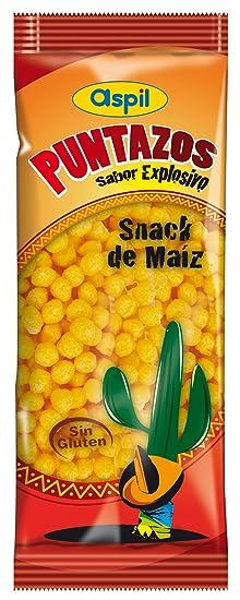 Producto de aperitivo de maíz horneado sabor barbacoa aspil puntazos sabor explosivo bolsita 48g