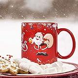 Christmas Coffee Mug Merry Christmas Coffee Cup Santa Claus Holiday Decorative Funny Christmas New Year Holiday Gifts…