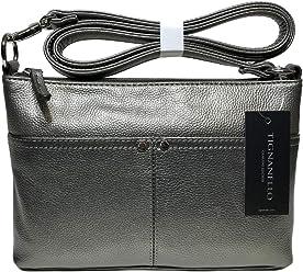 Tignanello Pebble Leather Heritage Crossbody Bag with Rfid