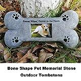 Puppycute Bone Shaped Pet Memorial Stone for