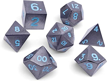 Amazon Com Set Of 7 Spellbound Full Metal Polyhedral Dice By Norse Foundry Rpg Math Games Dnd Pathfinder Toys Games Thanks giving day sale offer. norse foundry