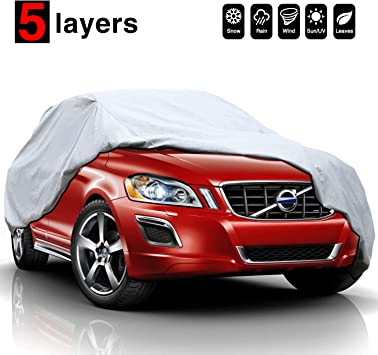 "For All Season Complete 100/& Waterproof Car Cover Protection Fits 190/"" W// Lock"