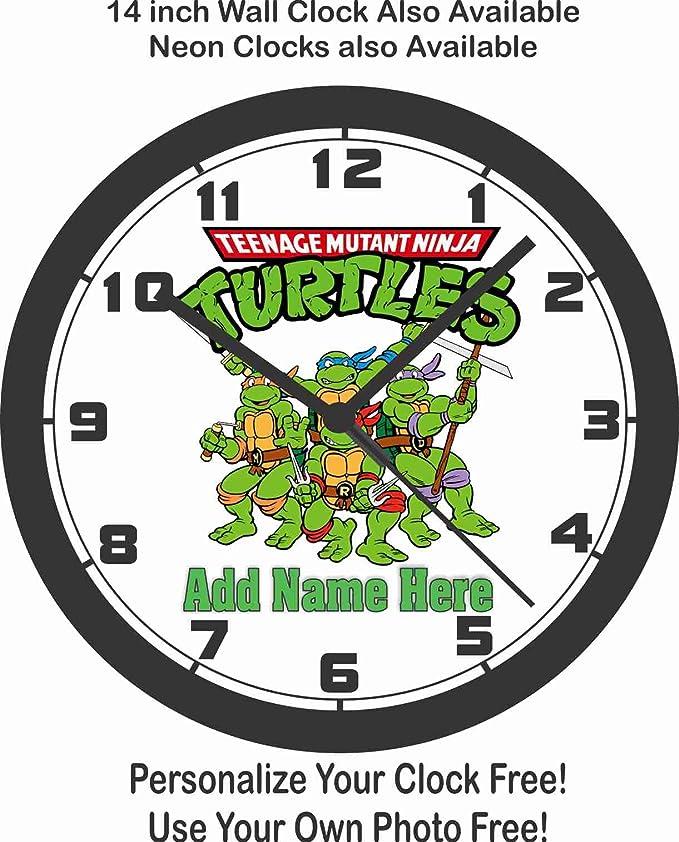 Amazon Com Personalized Teenage Mutant Ninja Turtles Wall Clock