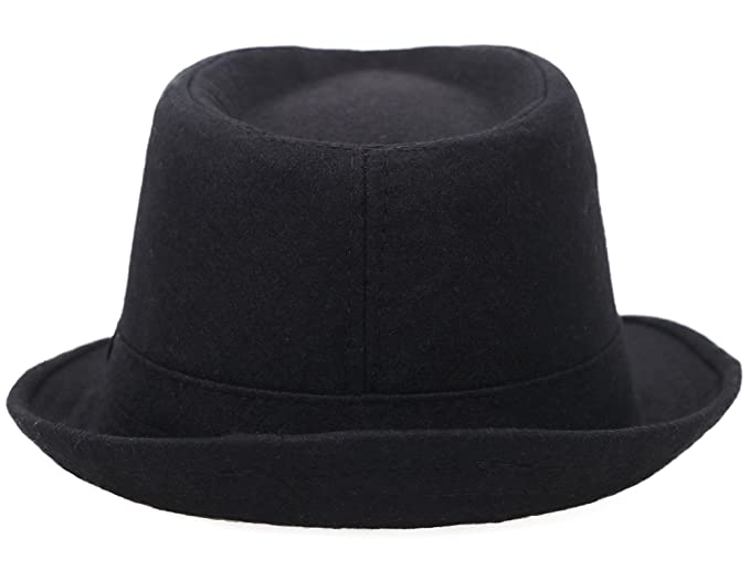 81c4fb4457e76d Simplicity Indiana Men's Adult Deluxe Structured Fedora Hat, 3435_Black at  Amazon Men's Clothing store: Black Gangster Fedora Hat Men