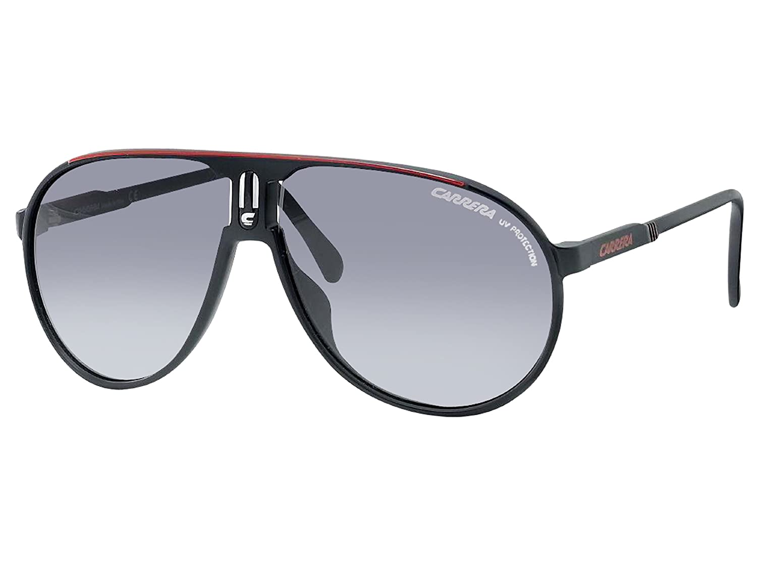 ff1bb46afd38c Amazon.com  Carrera Champion CDU Black   Red Champion Pilot Sunglasses Lens  Category 3 Size  Carrera  Shoes