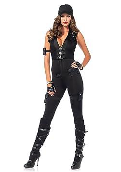 Leg Avenue 85463 - Deluxe SWAT Kommandant Kostüm, Größe Medium (EUR 38), Damen Karneval Fasching