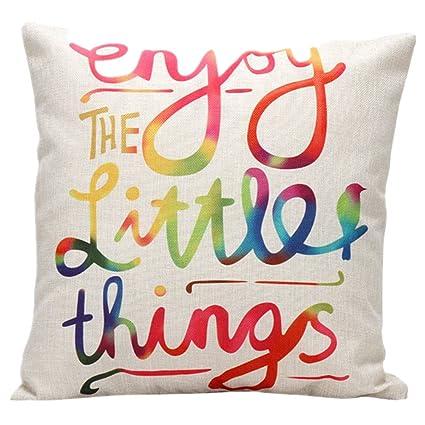 Amazon.com: DolphineShow Unique Pillow Shams Beautiful Cotton Linen ...