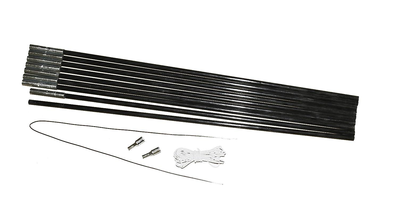 10T SPK Zeltgest/änge Reparatur Set div 4x Ersatz-Stange Zeltstange Fiberglastange Durchmesser zur Wahl 5m elastisches Stangen-Gummiband