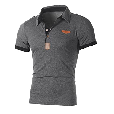 7358fe0cd Ulanda-EU Mens T-Shirts Polo Summer Short Sleeve Button Sports Tops Casual  Formal Regular Fit Polo Blouse Designer for Man Shirts Clothes Sale  Clearance ...