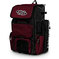 "Boombah Rolling Superpack Baseball/Softball Gear Bag - 23-1/2"" x 13-1/2"" x 9-1/2"" - Telescopic Handle and Holds 4 Bats - Wheeled Version"