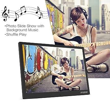 Andoer Marcos Digitales Marco de Fotos Digital 12 1280 * 800 Album Fotos Aleación de Aluminio Funciones de MP3 MP4 Reproductor y Videos con Control Remoto ...