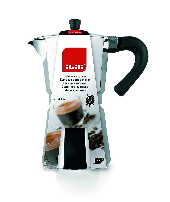 IBILI 610914 Cafetiere Espresso Aluminio Bahia, Plata, 17 x 14 x ...