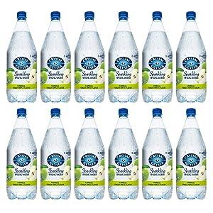 Crystal Geyser Green Apple Sparkling Spring Water PET Plastic Bottles, BPA Free, No Artificial Ingredients or Sweeteners, 42 Fl Oz, 12 Pack