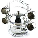 'Timy Toy Tea Set 14pcs Stainless Steel Teapot Pretend Play Toy for Kids with Carrying Caddy, Saucers, Spoons' from the web at 'https://images-na.ssl-images-amazon.com/images/I/71kCWl9LXML._AC_UL160_SR160,160_.jpg'
