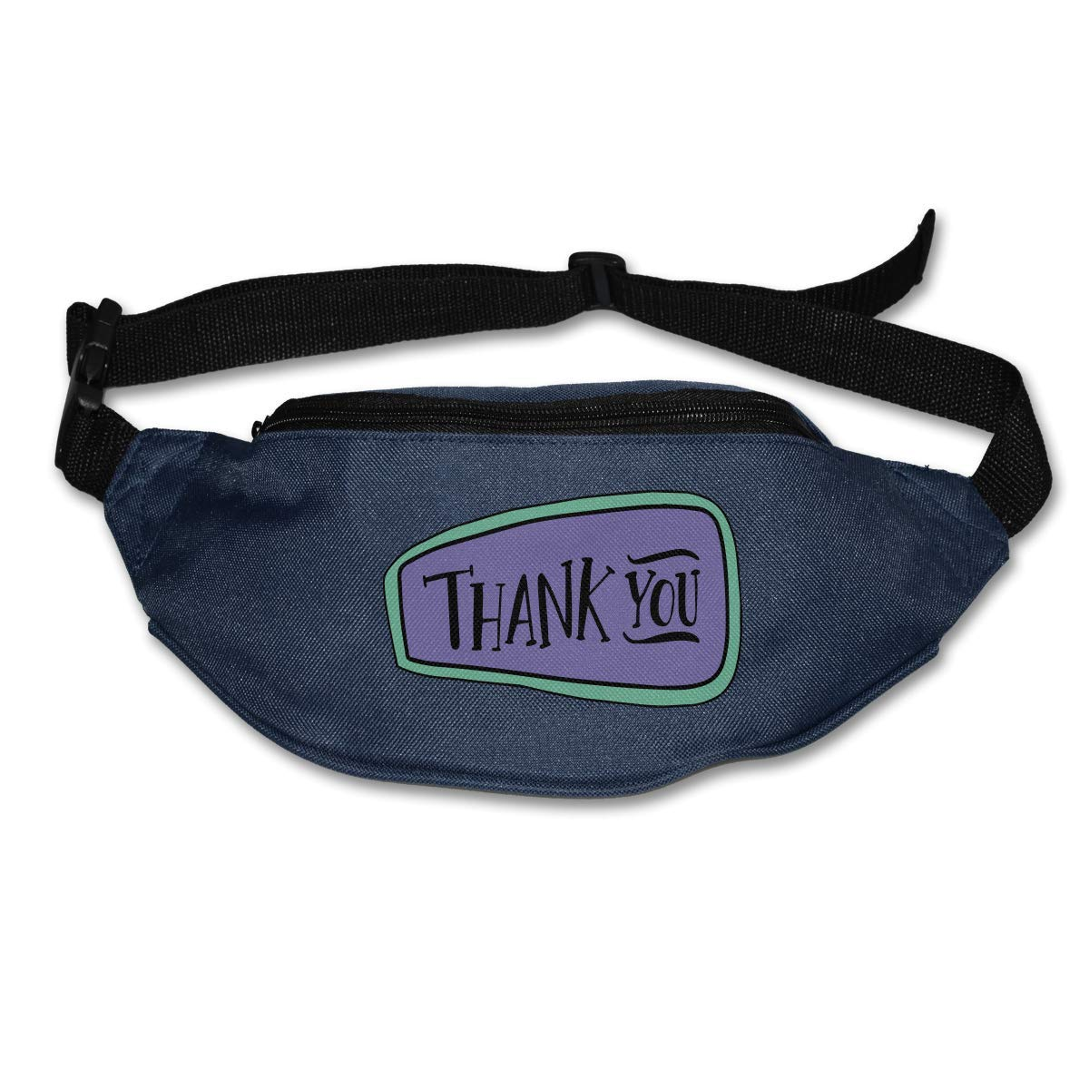 Waist Purse Thank You Words Graphic Unisex Outdoor Sports Pouch Fitness Runners Waist Bags