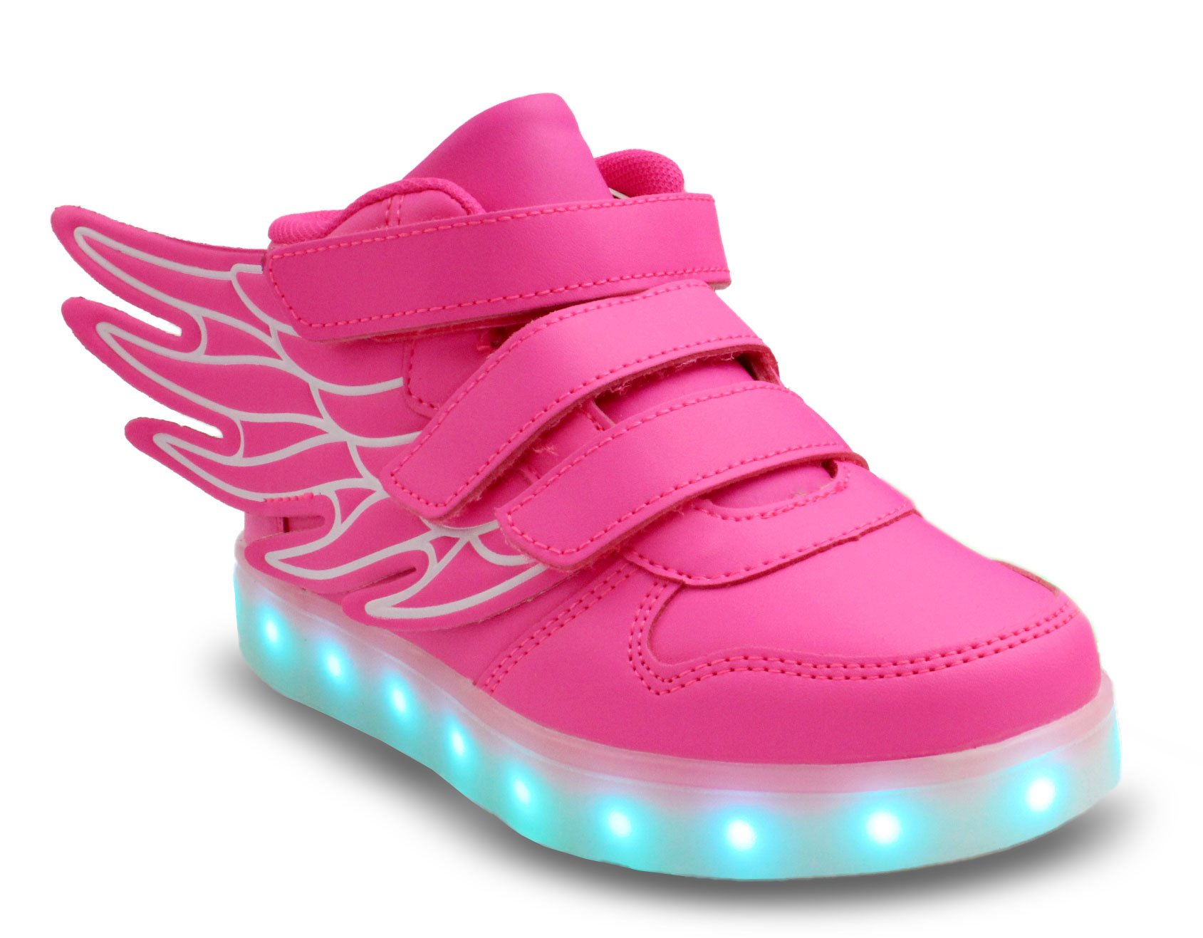 80d312997345 Galleon - Transformania Toys Galaxy LED Shoes Light Up USB Charging High Top  Wings Kids Sneakers (Pink) 3.5