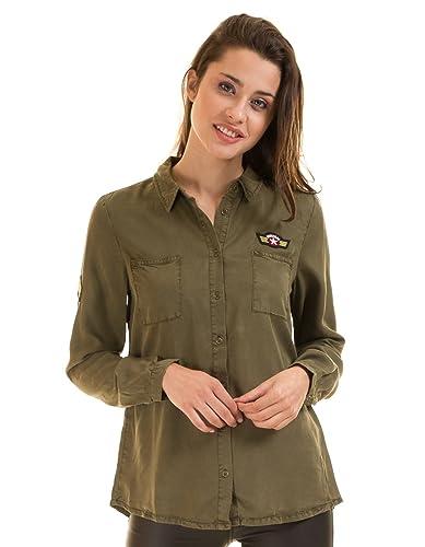 Vila Camisa Militar Parches Clothes (S - Verde)