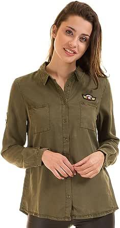 Vila Camisa Militar Parches Clothes (L - Verde): Amazon.es: Ropa