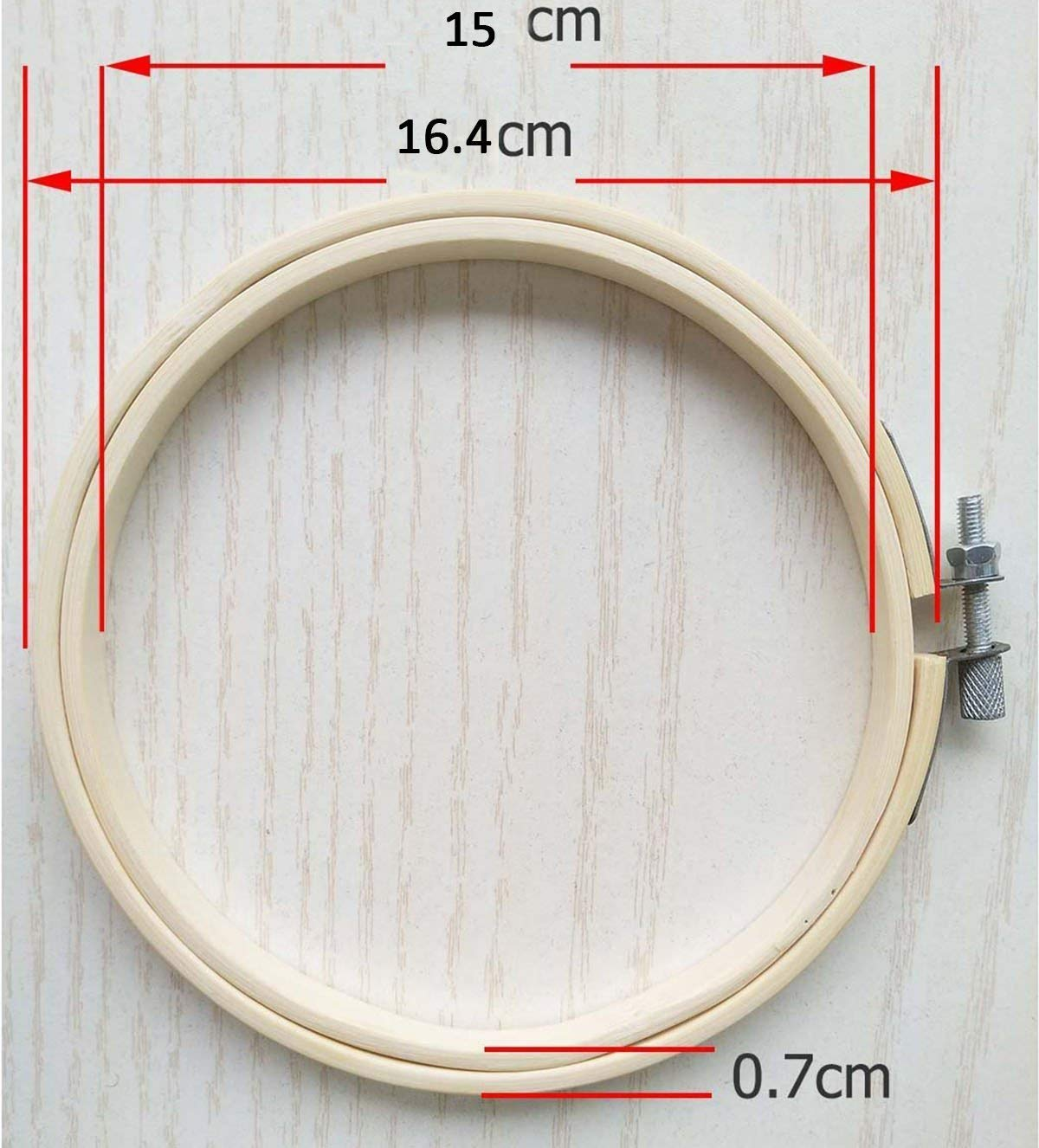 YXJD 10pc Stickrahmen aus Bambus Cross Stitch Hoop Ø 15cm Stickerei ...