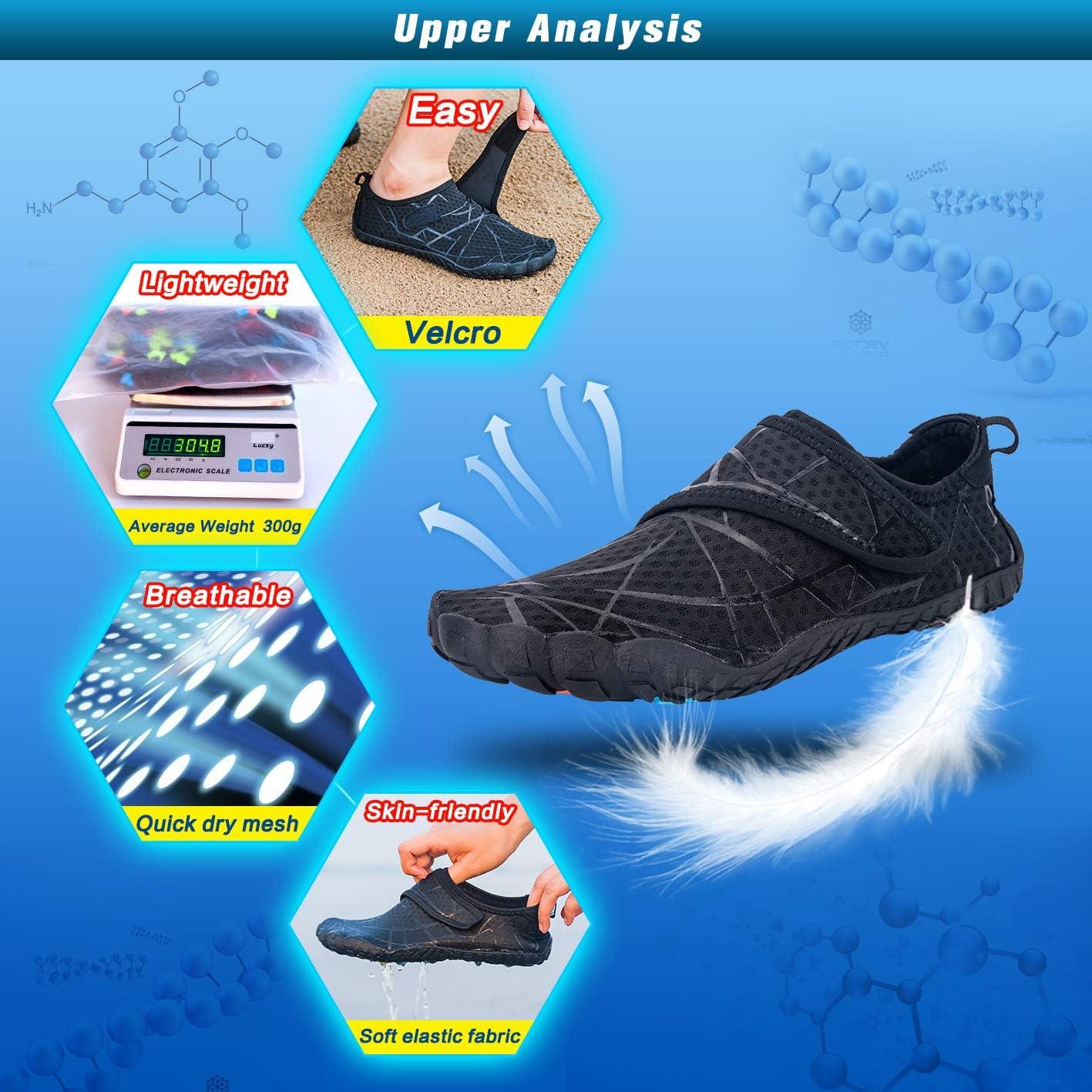 Ansbowey Water Shoes Mens Womens Quick-Dry Beach Barefoot Lightweight Aqua Shoes