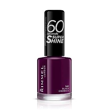 Amazon.com: Rimmel 60 Seconds Super Shine Nail Polish - 8 ml, Black ...