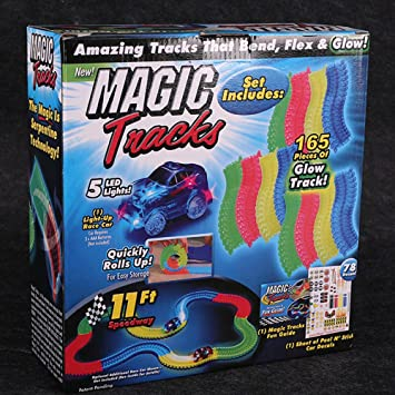 Molog magic tracks car toy with led light racing car for kids with molog magic tracks car toy with led light racing car for kids with battery165pcs mozeypictures Image collections