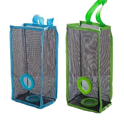 PenGreat - Dispensador de bolsas de almacenamiento portátil de malla para reciclaje, para colgar en