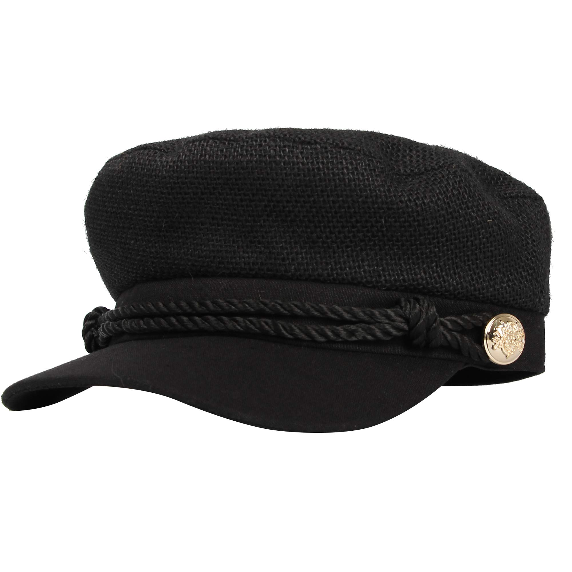 WITHMOONS Women Linen Newsboy Cap Mesh Breathable Summer Hat MUG1164 (Black) by WITHMOONS (Image #2)