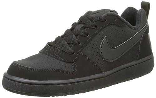 Nike Unisex Kids' Court Borough Low (GS) Basketball Shoes, Black (Black