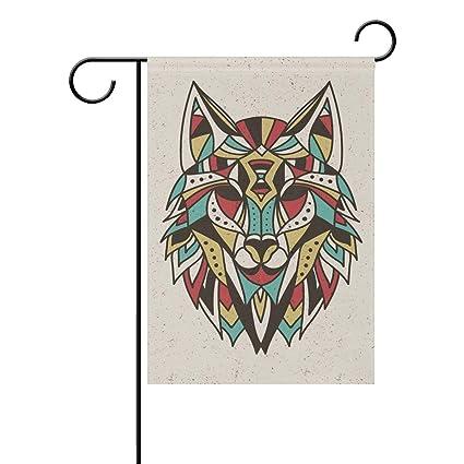 Amazon.com: YQZsay Blue Viper Colorful Wolf Garden Flag ...