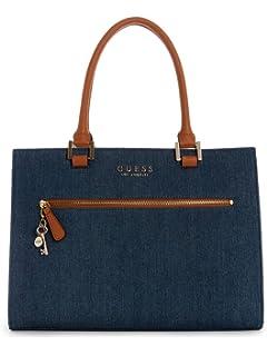 9c49097fcd2e Amazon.com: Bebe Womens Debbie Faux Leather Trim Shopper Tote ...