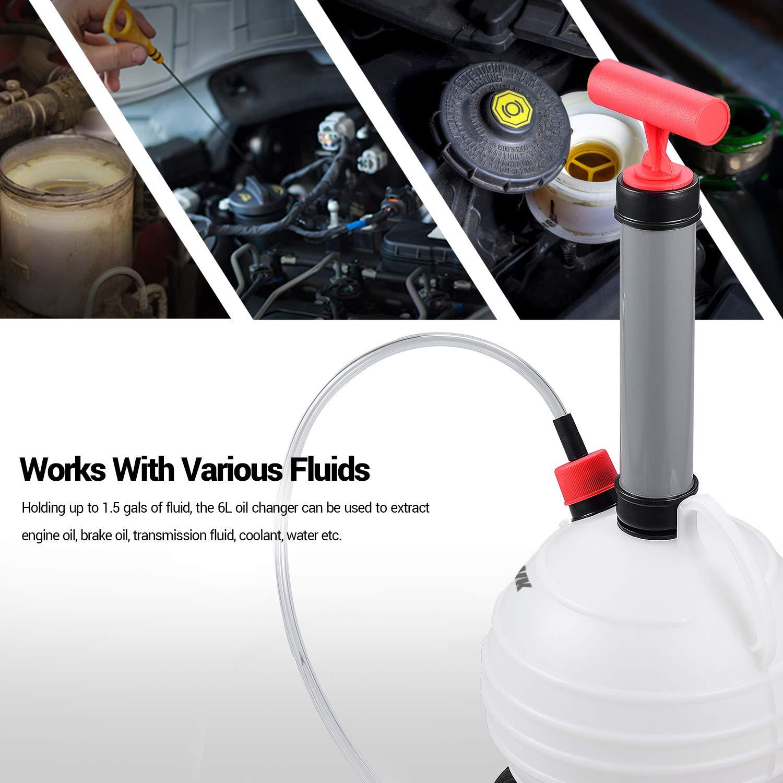 EWK 6L Manual Fluid Extractor Pump Vacuum Oil Changer Evacuator Kit by EWK (Image #3)