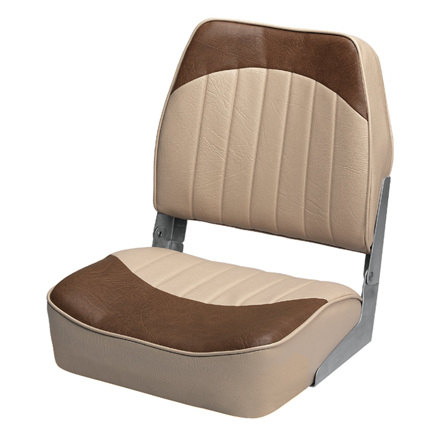 Wise 8WD734PLS-662 Low Back Boat Seat, Sand/Brown