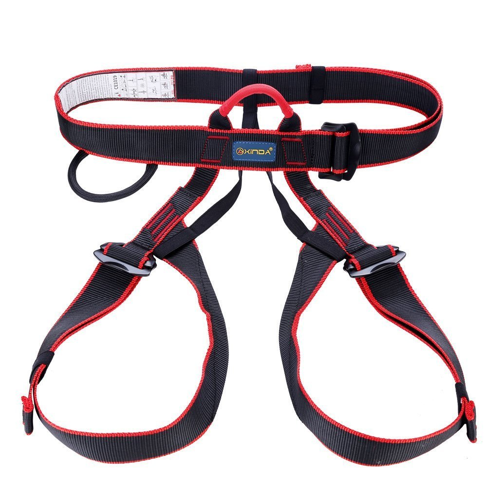 UBaymax Climbing Harnesses, Half Body Safe Seat Belts for Mountaineering Fire Rescue Higher Level Caving Rock Climbing Rappelling Equipment