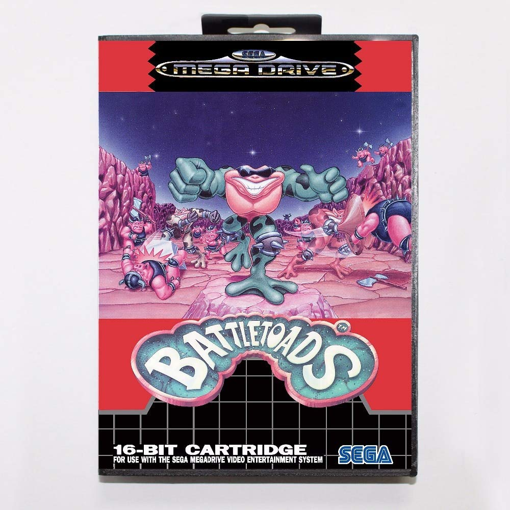 ROMGame Battletoads Game Cartridge 16 Bit Md Game Card With Retail Box For Sega Mega Drive For Genesis