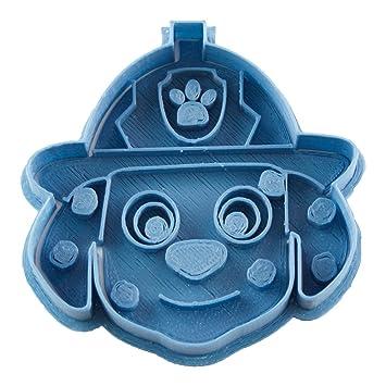 Cuticuter Marshall Cara Paw Patrol cortador de galletas, azul. 8x7x1,5cm: Amazon.es: Hogar