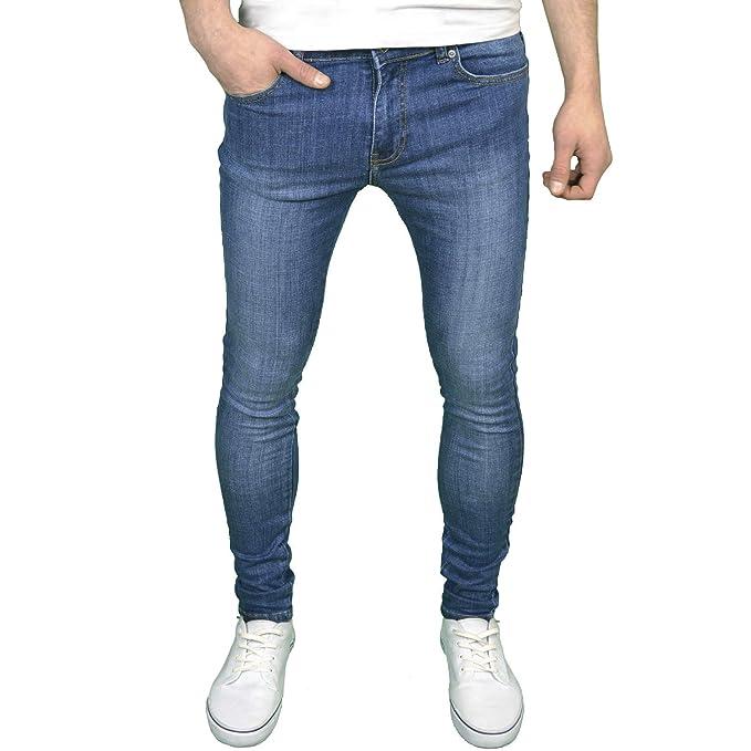Enzo Mens Designer Branded Super Stretch Skinny Fit Jeans Amazon Co