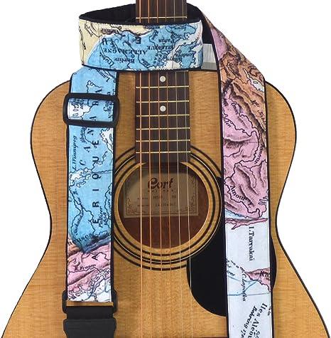 Mapa Correa para guitarra. América del Norte, Europa, Asia mapa ...