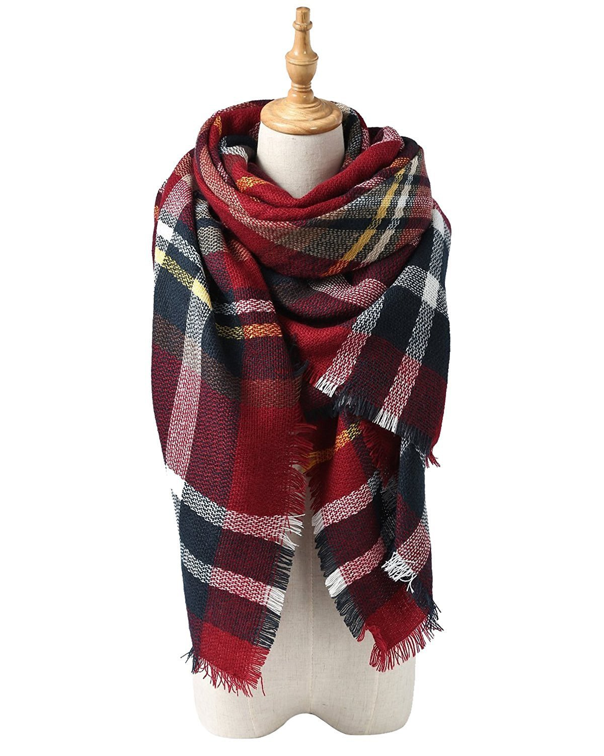 Blanket Scarf Pashmina Stylish Warm Wrap Shawl Classical Plaid Throw Blanket Urban Virgin MNUSAUVBH0A6699