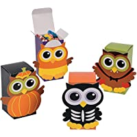 24-Pack Happy Deals Cardboard Fall Thanksgiving Owl Favor Boxes