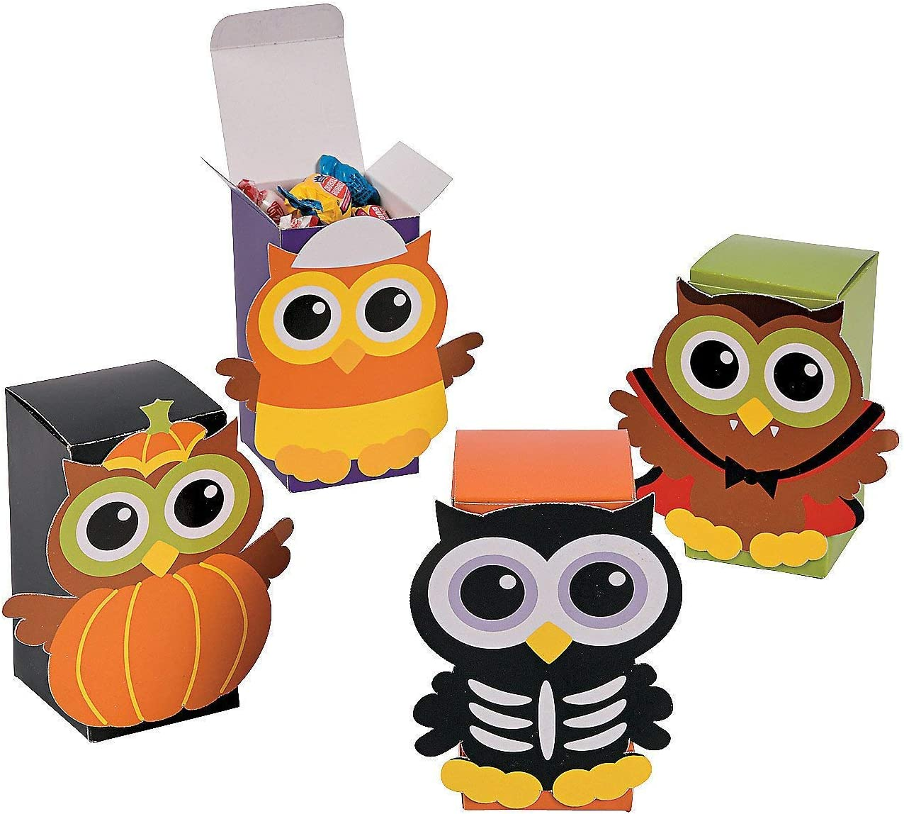 happy deals ~ 24 Pack Cardboard Fall Thanksgiving Owl Favor Boxes