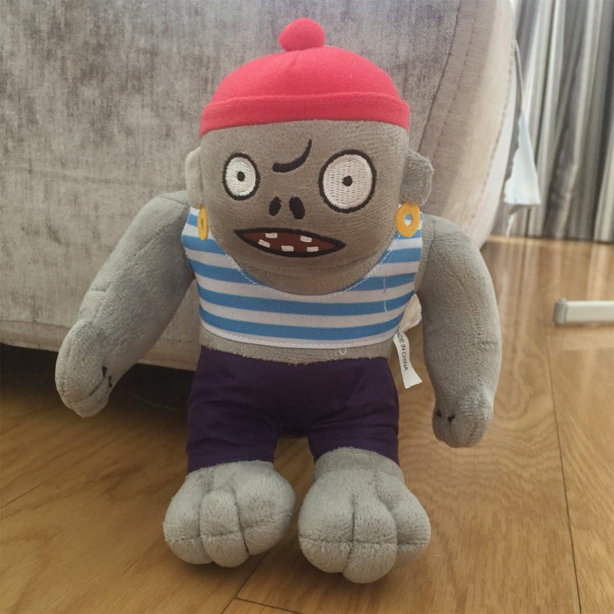 TavasHome Plants vs Zombies 2 PVZ Figures Plush Baby Staff Toy Stuffed Soft Doll 13cm-35cm Soft PP Cotton (Gargantuar Pirate Zombie)