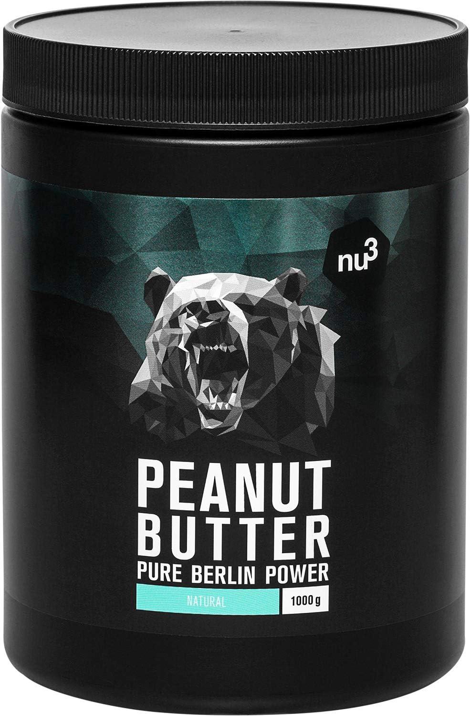 nu3 Peanut Butter (Burro di arachidi)   1 kg   Burro di arachidi 100% naturale   Puro burro di arachidi proteico senza zuccheri aggiunti   Produzione controllata