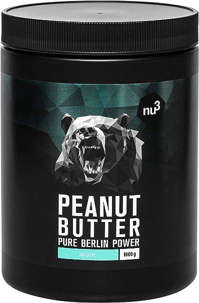 nu3 Crema de cacahuete - 1 kg Peanut Butter pura y natural ...