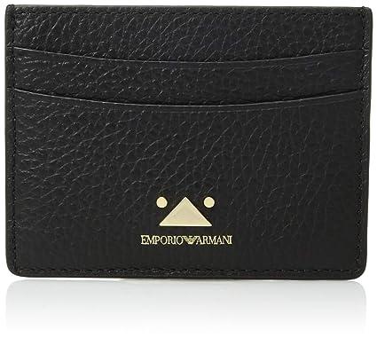 Emporio Armani Classic Credit Card Holder, Black  Handbags  Amazon.com 20095f5edd