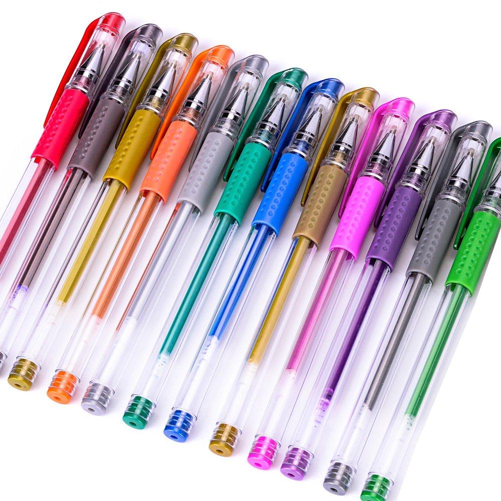 Newdoer 48penne gel TPU grip unico colori, pennarelli ideale per conservare libri da colorare e progetti artistici