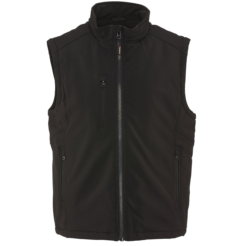 Refrigiwear Men's Insulated Softshell Vest, Black 492