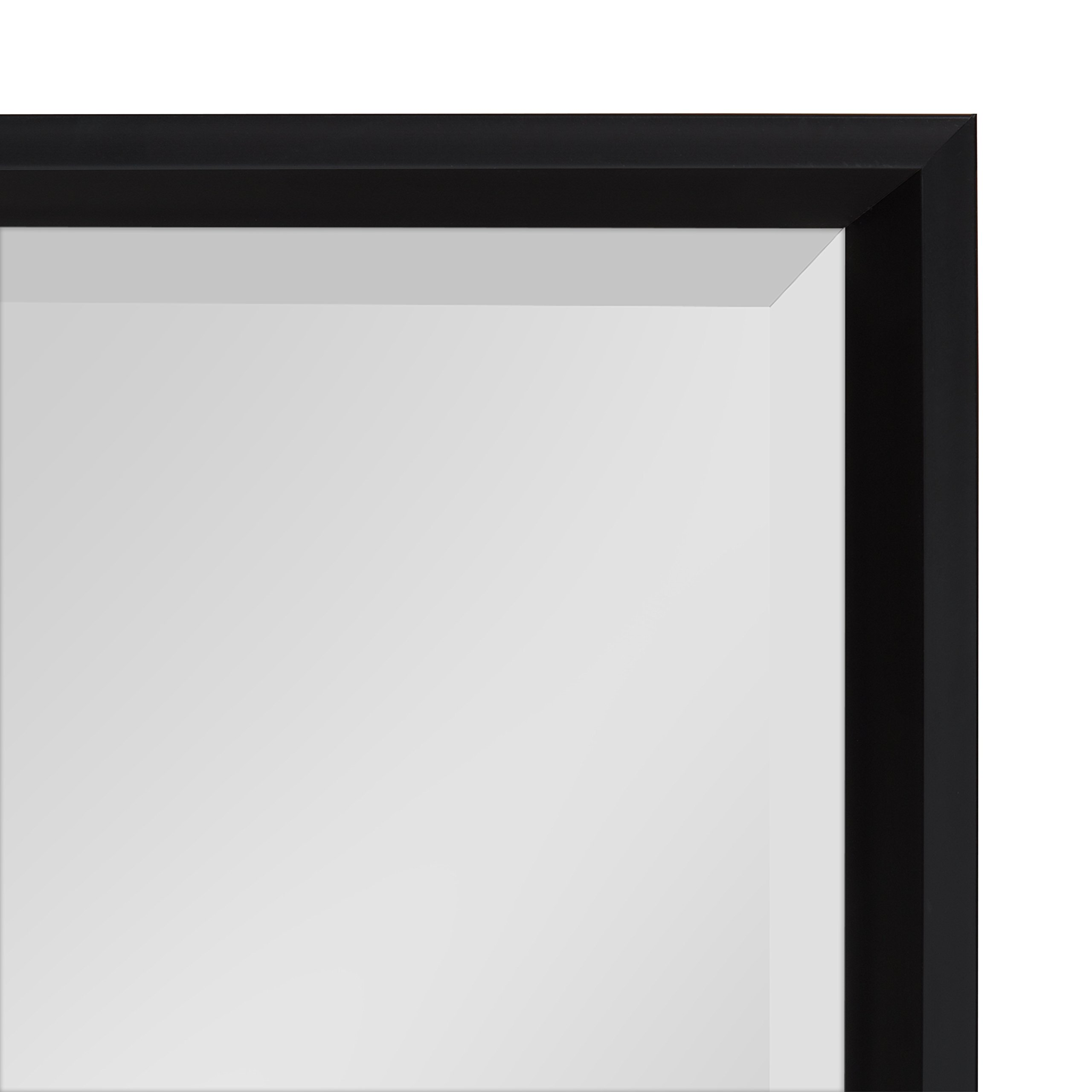 Kate and Laurel Calter Modern Decorative Framed Beveled Wall Mirror, 19.5x25.5 Black by Kate and Laurel (Image #2)