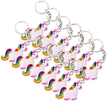 12 x Einhorn Schlüsselanhänger Mitgebsel Geburtstag